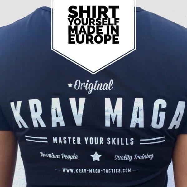 Krav Maga Tactics Vintage Shirt aus kühlender Funktionsfaser.